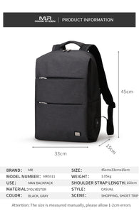Modern Smart Backpack For 15.6 inches Laptop (3 colors) - Gadget Backpack