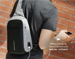 Anti-theft Crossbody Bags with USB charging port - Gadget Backpack