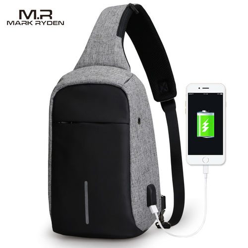 Anti-theft Crossbody Bags with USB charging port | Gadget Backpack