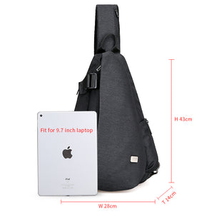 High Capacity Crossbody Bag suit for 9.7 inch Pad with USB charging port - Gadget Backpack