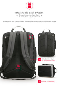 Anti-thief, USB Backpack for 15.6 inch laptop - 180° opening design - Gadget Backpack