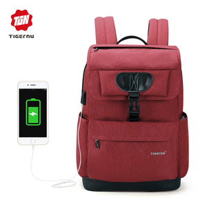 Tigernu Mochila 15.6 Laptop Backpack (Red and Black)