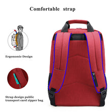 Tigernu Student Backpack (Red and Black)