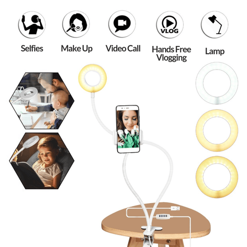 Selfie Ring Light with Phone Holder