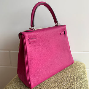 Hermes Kelly 25 Rose Pourpre Togo Phw