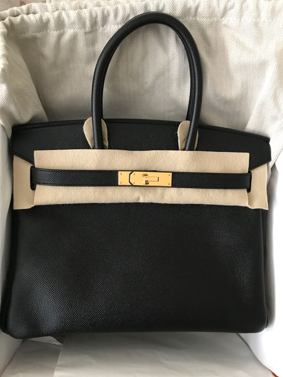 5877e4a5744 Hermes Birkin 30 Black Epsom Ghw – Luxury From London