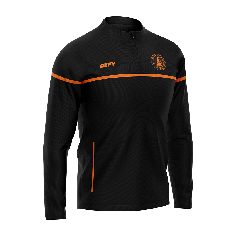 Quay Celtic SOLO 1/4 Zip Top - Black/Orange