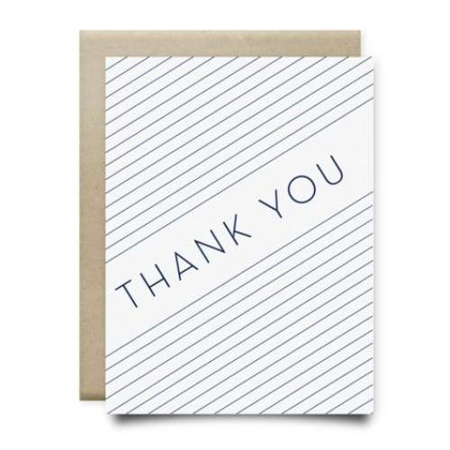 Blue Stripes Thank You Card | Anvil Cards - CARDS AND STATIONERY - anvil Card cards Thank you