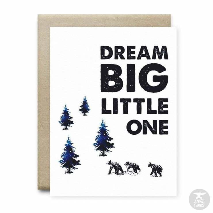 Dream Big Little One Card | Anvil Cards - CARDS AND STATIONERY - anvil Card cards dream big Dream big little one