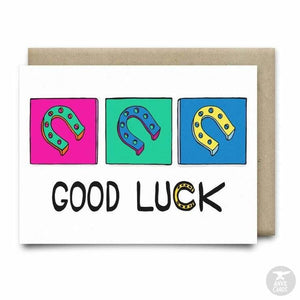 Good Luck Greeting Card | Anvil Cards - CARDS AND STATIONERY - anvil Card cards good luck