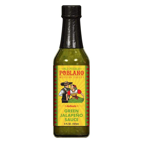 Green Jalapeno Hot Sauce | old Pueblo Poblano - Pantry and Bar - Authentic Hot Sauce - Green Jalapeno Hot Sauce - Hot Sauce - old Pueblo