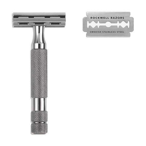 Safety Razor | 2c Double Edge Gunmetal | Rockwell Razors - Men's Grooming - 2c Double Edge Gunmetal - Men's Grooming - Perma Brands -