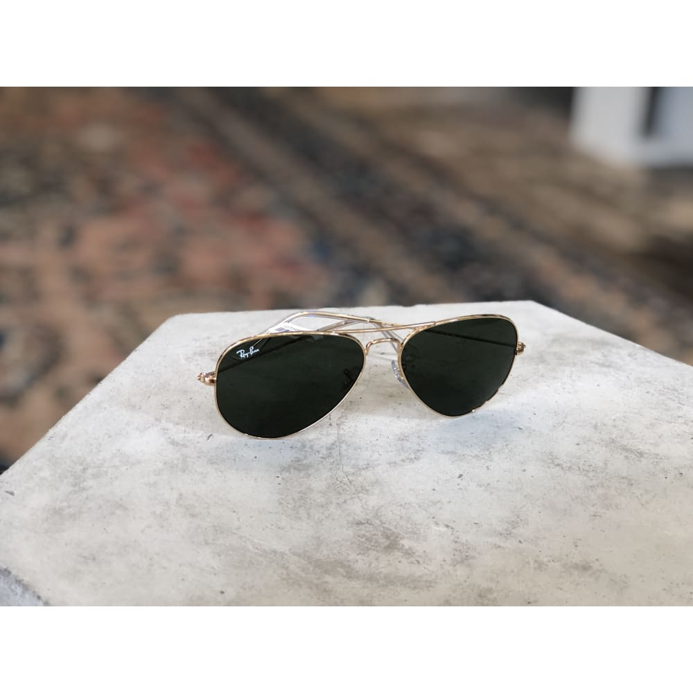 Sunglasses | Aviator Gold W/ Grey Green | Ray-ban - Sunglasses - Accessories - Aviator - Polarized Aviator Sunglasses - Ray-ban - Ray-ban