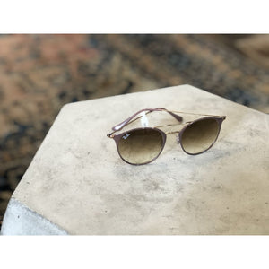 Sunglasses | Copper Top on Beige w/ Clear Gradient Brown | Ray-Ban - SUNGLASSES - 3546 Ray-Ban ACCESSORIES Copper Top Ray-Ban Gradient Lense