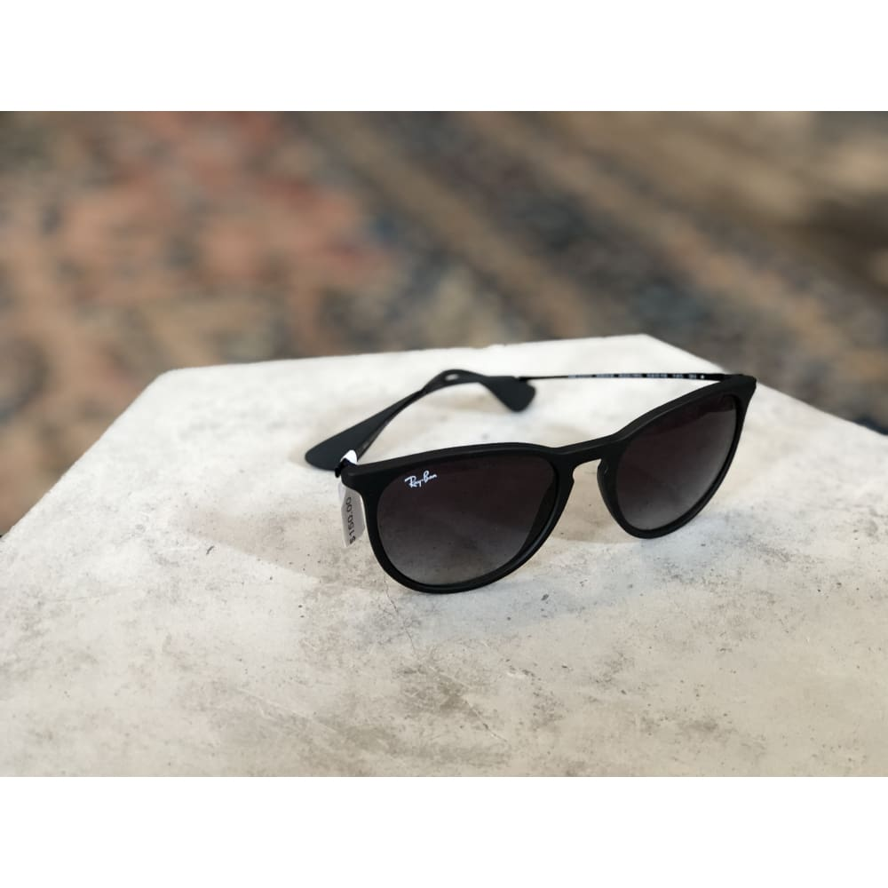 Sunglasses | Erika Rubber Black w/ Light Grey Gradient | Ray-Ban - SUNGLASSES - ACCESSORIES Erika Sunglasses Ray-Ban Ray-Ban 4171 Ray-Ban