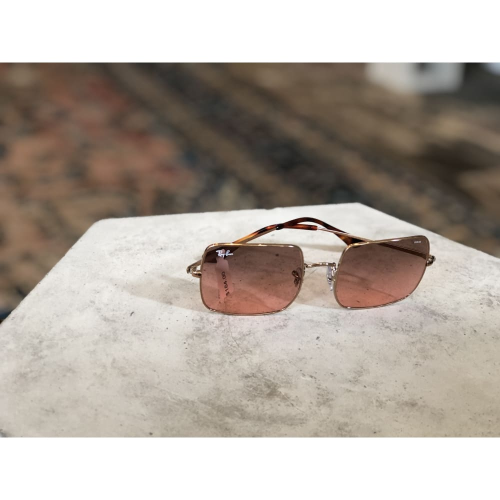 Sunglasses | Square Copper w/ Red Gradient | Ray-Ban - SUNGLASSES - 1971 ray-ban ACCESSORIES Polarized Sunglasses Ray-Ban Ray-Ban Sunglasses