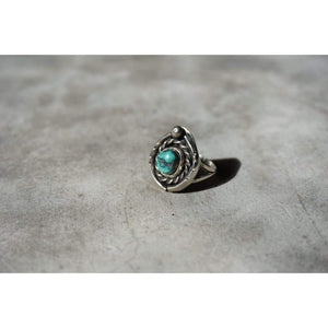 Turquoise Rope Ring | Vintage - JEWELRY - native american jewelry sterling silver turquoise ring turquoise ring