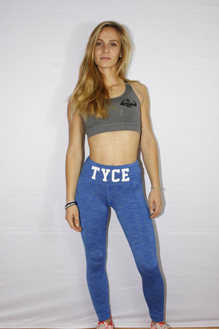 Legging Performance Bleu