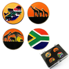 South Africa Ball Markers and Visor Clip set - golfprizes