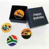 Set of Four South Africa Ball Markers in Happy Birthday Box - golfprizes