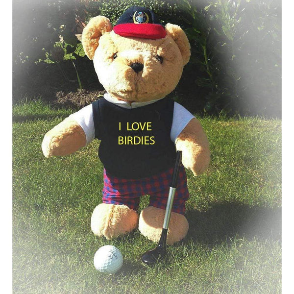 I Love Birdies Golfing Teddy Bear - golfprizes