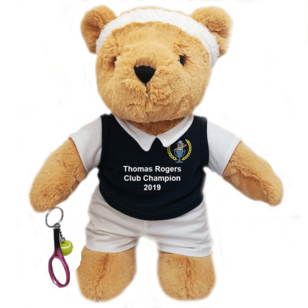 Personalised Tennis Teddy Bear (boy) - golfprizes