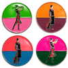 Art Deco Ball Markers in Presentation Sleeve - golfprizes