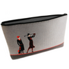 Art Deco Clutch Bag with Handkerchief, Lavender Sachet, Flannel and Nail File - golfprizes