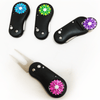 Divot tool and sparkly ball marker (black) - golfprizes