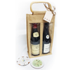 Jute Bottle Bags and Coasters - golfprizes