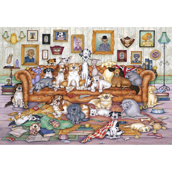 500 Piece Jigsaw Puzzle - The Barker Scratchitts - golfprizes