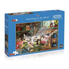 500 Piece Extra Large Jigsaw Puzzle - Snoozing in the Shed - golfprizes