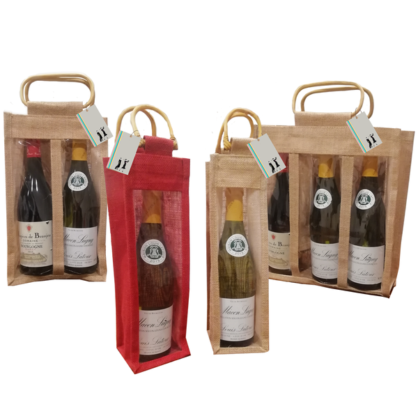 Jute Bottle Bags - golfprizes