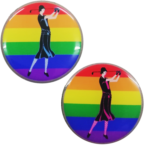 Special Edition Lady Golfer Rainbow Ball Marker - ONLY £1.00 - golfprizes