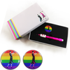 Lady Golfer Rainbow Ball Marker and From the Lady Captain Pencil in Presentation Sleeve - golfprizes