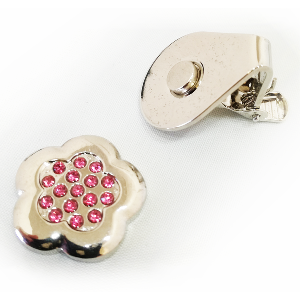 Sparkly Rose Ball Marker and Visor Clip - golfprizes