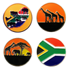 South African Ball Markers in Presentation Sleeve - golfprizes