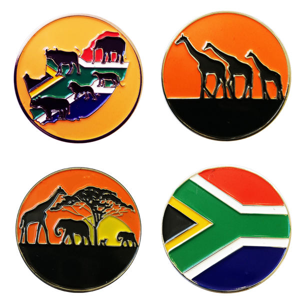 South Africa Ball Marker and Pencil in Presentation Sleeve - golfprizes