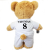 Personalised Birthday Football Bear (white) - golfprizes