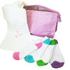 Four Pairs of Socks and Microfibre Towel in Cosmetic Bag - golfprizes