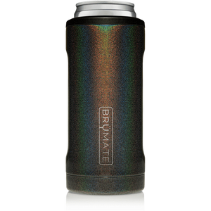 Brumate - Hopsulator Beer Cooler 12oz Slim Can | Glitter Charcoal