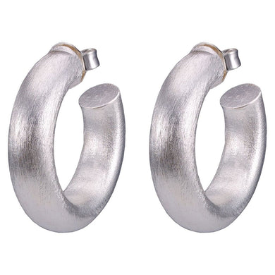 Sheila Fajl - Small Chantal Hoops - Brushed Silver