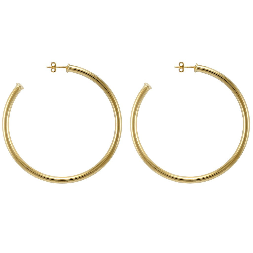 Sheila Fajl - Everybody's Favorite Hoops - Polished Gold