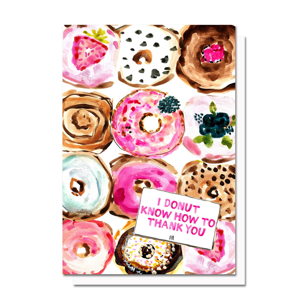 Evelyn Henson - Donut Thank You Card