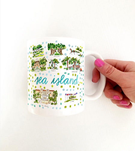 Evelyn Henson - Sea Island, GA Map Mug
