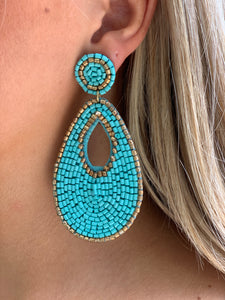 Secret Tear Earring - Aqua