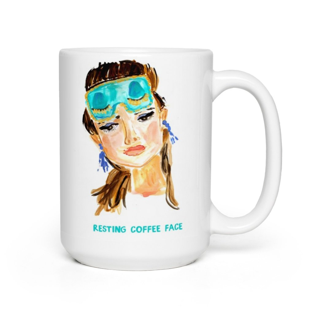 Evelyn Henson - Resting Coffee Face Mug