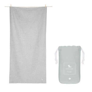 Dock & Bay - Eco Quick Dry Extra Large Towel - Mountain Grey