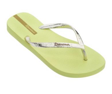 Ipanema - Foil Flip Flops - Yellow/Metallic Gold