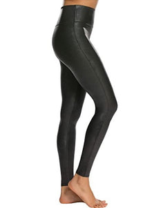 SPANX - Faux Leather Leggings - Black